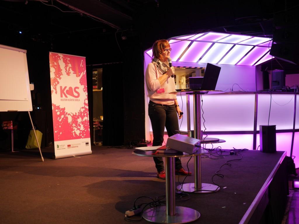 Tua Stenström från Kulturrådet berättade om Skapande Skola och elevinflytande