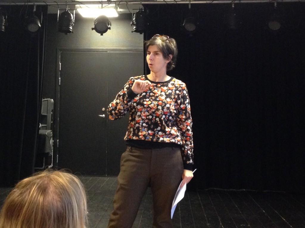 Camilla Nyman från Landstinget Dalarna inleder dagen