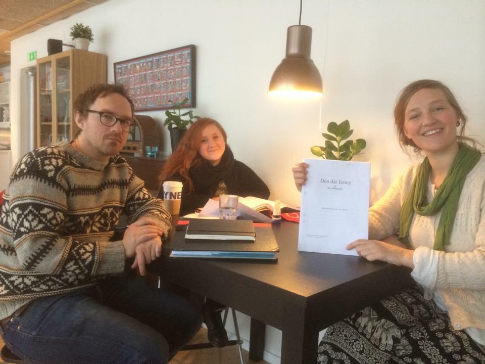 Hugo, Mala och Malin från Dalateatern i DIG-planering