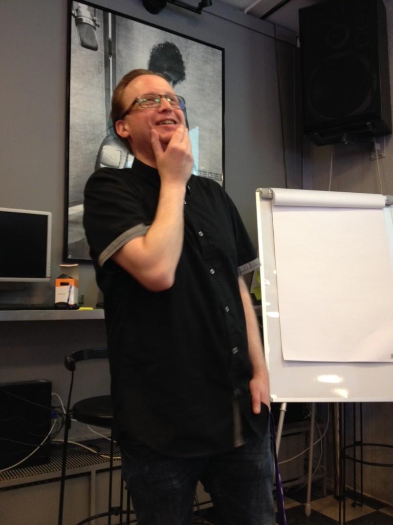 Mattias Dristig höll i arrangörsutbildning